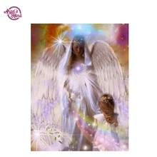 ANGEL'S HAND 5D Diy Diamond Painting Full round Diamond  angel Embroidery Cross Stitch Needlework Mosaic Pattern