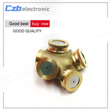 New 4 Hole Brass Metal Sprinkler Spray Misting Nozzle Garden Grass Lawn Impulse Sprinklers For Irrigation System(China)