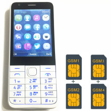 "4 Sim Cards 4 Standby 2.8"" mobile phone mp3 gsm china 1000mAh battery Phone Cheap PHONES Russian keyboard key button H-mobile C9"