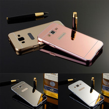 Hot Fashion Aluminum+Hard Plastic Mirror Case Electroplate Luxury Shockproof Cover Coque For Samsung Galaxy J1 mini J1 Ace J2 J3(China)