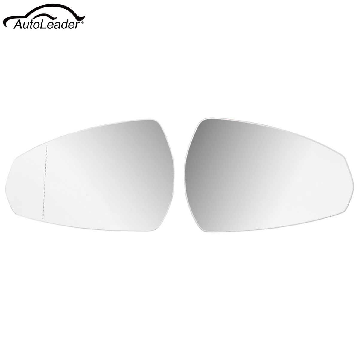 Left Passenger Side Heated Electric Wing Mirror Glass for SKODA OCTAVIA 09-12