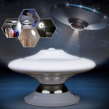 New Style Bedroom Light 2Modes UFO 360 Degree Wireless Rotation PIR Motion Sensor Light Control LED UFO Nightlight Wall Lamp(China)