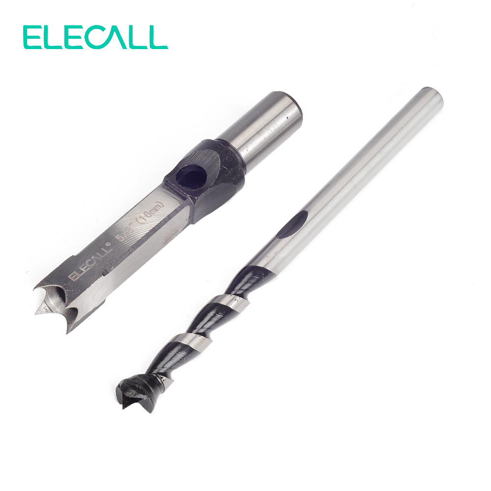 16mm 5/8 Woodworking Square Hole Bits Drill Mortising Chisel Set 16mm/ 5/8 Mortiser Drills Bit Set<br><br>Aliexpress