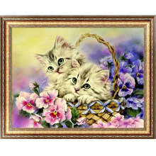 DIY 5D Diamond Switch Kit Embroidery Flower Basket Cats Painting Mosaic Needlework Cross Stitch Home Decor Craft 40cm*30cm