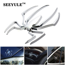 1pc SEEYULE car-styling Spider Shape Emblem 3D Metal Car Sticker Chrome plating Badge Motor Truck Body Decal