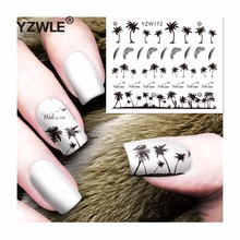 YZWLE 1 Sheet DIY Decals Nails Art Water Transfer Printing Stickers Accessories For Manicure Salon (YZW-172)