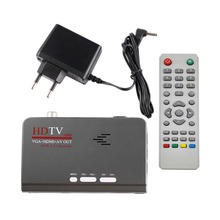 TV HDMI HD 1080P With VGA Version DVB-T2 TV Box AV CVBS Tuner Receiver Remote Control Compatible With CRT and LCD