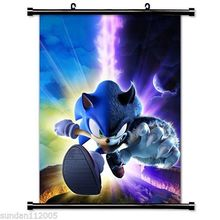 sell like hot cakes Sonic The Hedgehog Game Fabric Wall Scroll Poster(China)