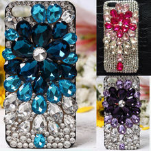 Bling Crystal Sparkle Jewelry Grape Diamond Case For HTC Desire HD G10 A9191 Coque Capa Lady Pink Cover