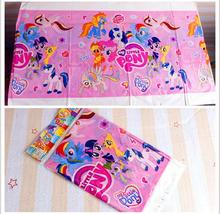 108*188cm Kids Favors Baby Shower My Little Pony  Cartoon Theme Happy Birthday Party tablecloth  Decoration Paper Supplies