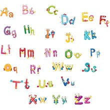 Alphabet Baby Gift DIY Wall Stickers Removable Cheap Children Bedroom Decor For Kids Adhesive Nursery Wall Decals Wall Poster(China)
