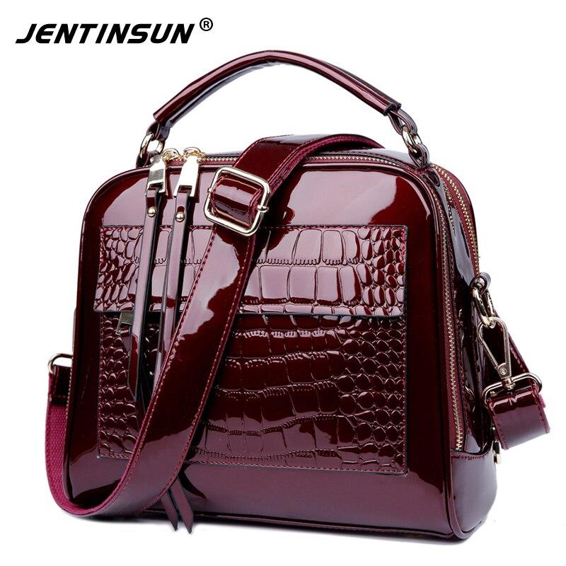 High Quality Women Bag Fashion Women Messenger Bags Crocodile Pattern Top-Handle Bag Genuine Leather Shoulder Crossbody Bags<br>