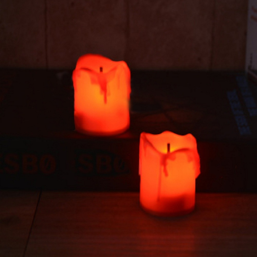 12 PCS of LED Electric Battery Powered Tealight Candles Warm White Flameless for Holiday/Wedding Decoration 7
