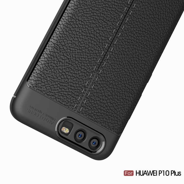 TIKONO Case For Huawei P10 Plus Cover Silicon TPU Luxury Leather Slim Soft Protective Cell Phone Cases for Huawei P10 Plus Case 5