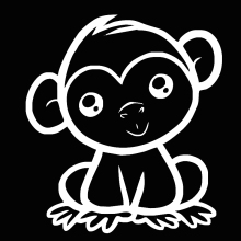HotMeiNi Cute Monkey Funny Truck Decal Vinyl Car Window Laptop Die Cut Vinyl Sticker(China)