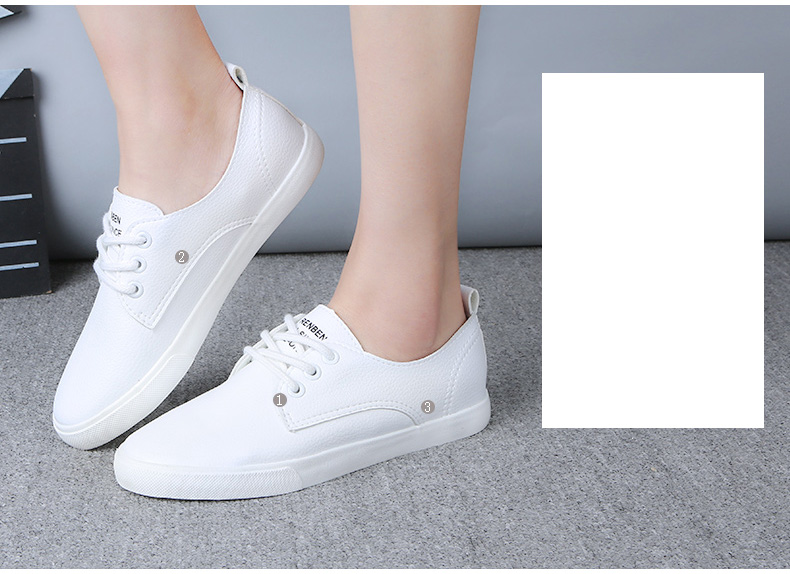 2016 New Leather Women Shoe Casual Leather Shoes For Women Flat Shoes Ladies Lacing Loafers Zapatos Mujer 6