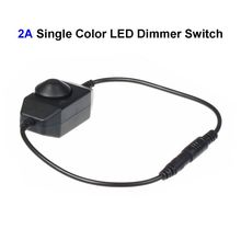 30pcs DC12V 2A Single Color LED Dimmer Switch Controller For SMD 3528 5050 5730 Single Color LED Rigid Strip