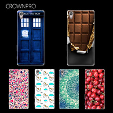 CROWNPRO Case Cover For Sony Xperia E5 E 5 Silicone Case Soft TPU Cover Back For Sony E5 Mobile Phone Cases