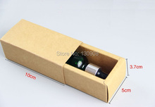 Joy size 10*5*3.7cm small slide drawer box, jewelry packaging box /kraft sliding gift box for oil bottle(China)