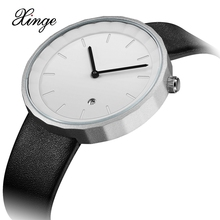 Xinge Brand 2017 New Arrival Trendy Simple Men Watches Fashion Business Leather Strap Sport Vintage Style Male Clock XG1048(China)