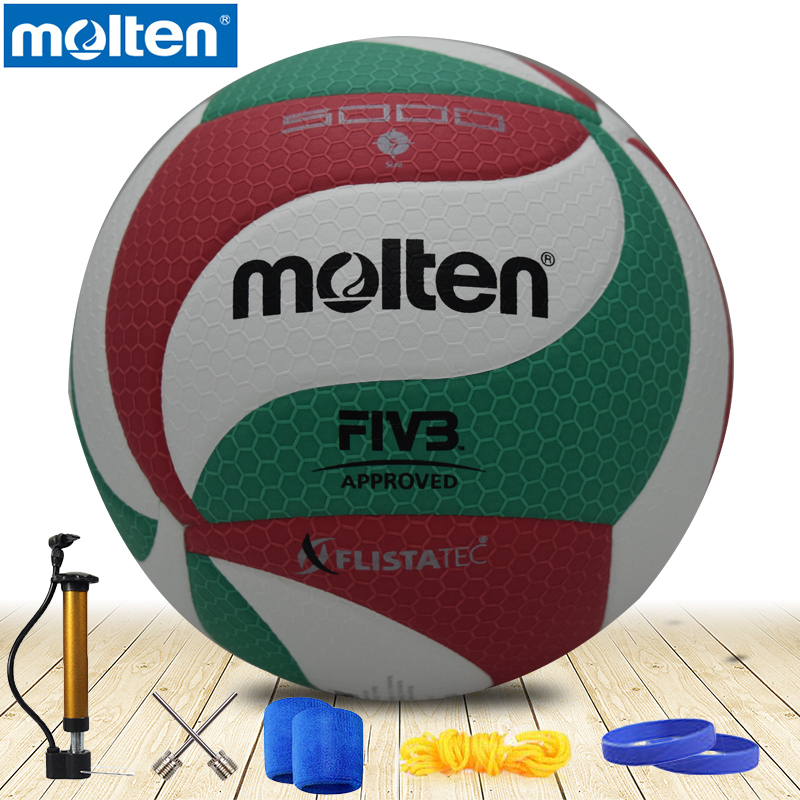 original molten volleyball  V5M5000 NEW Brand High Quality Genuine Molten PU Material Official Size 5 volleyball<br>