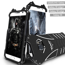 Phone Cases For Samsung Galaxy S6/ Edge/ Edge Plus Metal Aluminum Cover Movie Heroes The Dark Knight Batman Element Bumper Case