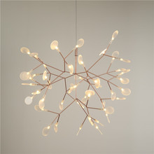 Nordic Modern LED Firefly Pendant Lights Fixture Flower Tree Branch Droplight Home Indoor Dining Room Restaurant Parlor Lighting