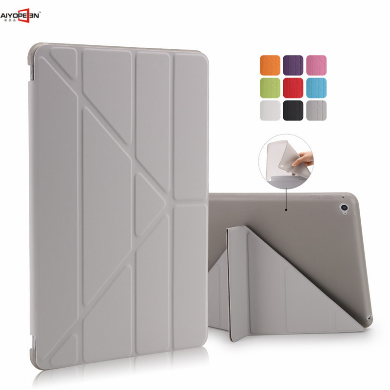 For ipad air 2 case tpu back cover soft protect pu leather magnetic smart wake up sleep for apple ipad 6 with free stylus<br><br>Aliexpress