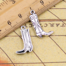 Buy 10pcs Charms western cowboy boots 23*13mm Tibetan Silver Plated Pendants Antique Jewelry Making DIY Handmade Craft for $1.07 in AliExpress store