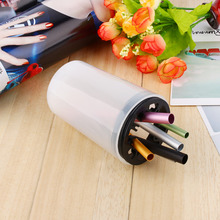 1pc Nail Art Manicure Brush Cleaner Storage Holder Case with 8 Holes Pen Cleanser Cup Equiement Storage Bottle(China)