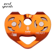 High-quality,biaxial double pulley, steel cable pulley blocks and rescue explorers,outdoor sports, rock climbing equipment