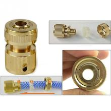 1/2inch Copper Metal Threaded Water Pipe Connector Tube Tap Snap Adaptor Brand New and High Quality for Water Gun Water Pipes(China)