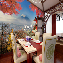 Japanese custom 3D wallpaper landscape 3D wallpaper Fuji Japanese restaurant Sushi restaurant large mural backdrop beauty salons