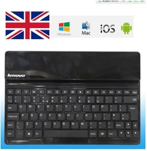 UK  layout Original Lenovo Bluetooth Keyboard For S6000 Android Tablet PC + ios ipad Universal Model 2.4Ghz With Lith