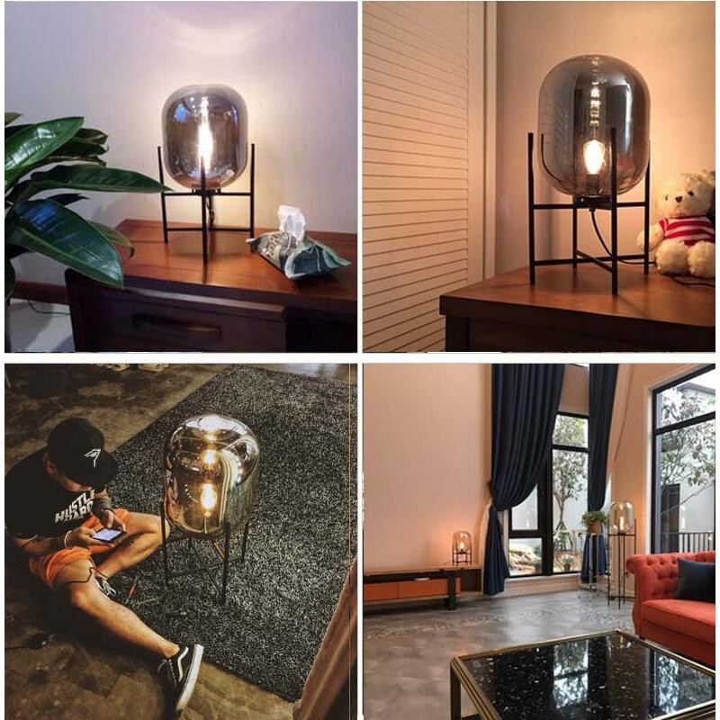 Nordic Style Glass Floor Lamp Retro Melon Floor Lights Fashion Design Glass Table Lamps Lights for Living RoomCountry HouseBar (20)