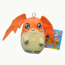 "Free Shipping EMS 100/Lot Patamon 4"" Digimon Plush Doll Stuffed Toy New(China)"