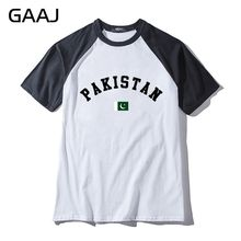 Pakistan Flag Man & Women Unisex T-Shirt Hit Color Collar Raglan Print Letter Northern Europe Man T Shirt Men Mens High Quality