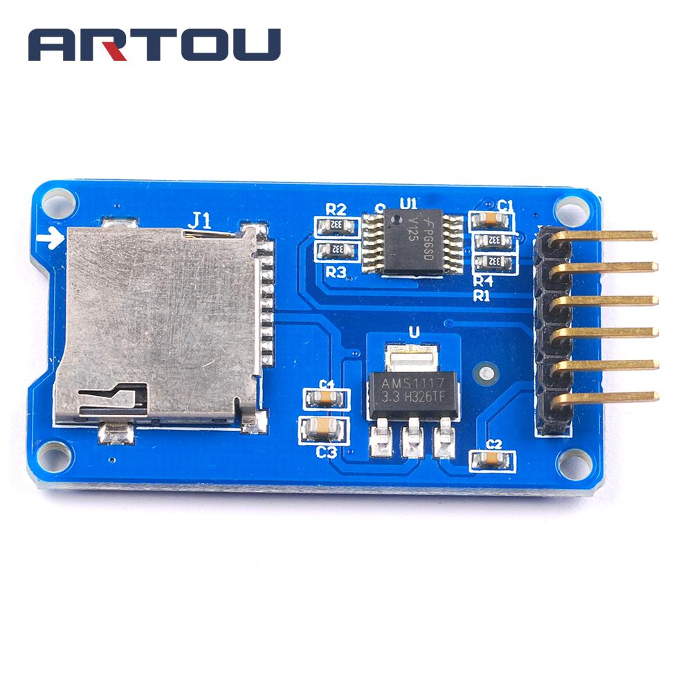 1PCS Micro SD Card Mini TF Card Reader Module SPI interfaces with Level Converter Chip