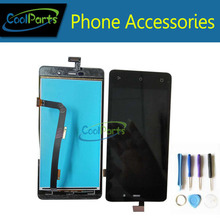 High Quality Black color For Highscreen Power Four LCD Display+Touch Screen Digitizer Replacement with Tools 1pc/Lot