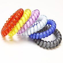 10pcsHair Accessories For Women Hairbands Telephone Wire Hair Ring  Headbands Traceless Gum Colored Elastic Hair Bands For Girls