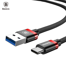 Baseus Type C Cable Samsung Galaxy S9 S8 Plus Note8 USB 3.0 Type-C Fast Charging Cable Xiaomi Mi6 Mi5 MiA1 USB C Cable