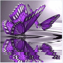 30*30cm New Purple Butterfly 5D Diamonds Embroidery Diamond Mosaic Round Diamond Painting Cross Stitch Kits Home Decoration