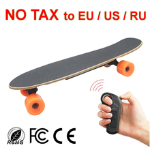 Portable Mini Four Wheel Electric Skateboard Adult Scooter 24v Penny Boosted Board Longboard kids skates hoverboard oxboard(China)