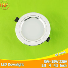 Ultra Bright Frosted Metal LED Downlight 5w 7w 9w 12w 15w Spot Light 110~220v Ceiling Down Light Indoor Lighting Home Chandelier(China)