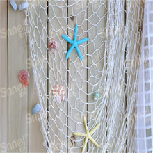 3D Sticker Mediterranean Sea Home Wall Stickers Big Fishing Net Decoration Wall Hangings Home Decor 100*200cm EJ673216