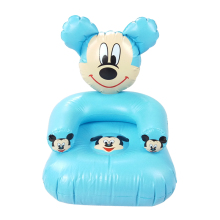 2 to 6 years old to the age of the cute cartoon pink blue mouse PVC inflatable inflatable sofa seat children's toys 43* 43 * 65