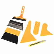 7Pcs Car Auto Window Scraper Wrapping Tint Vinyl Film Squeegee Cleaning Tool Kit(Hong Kong)
