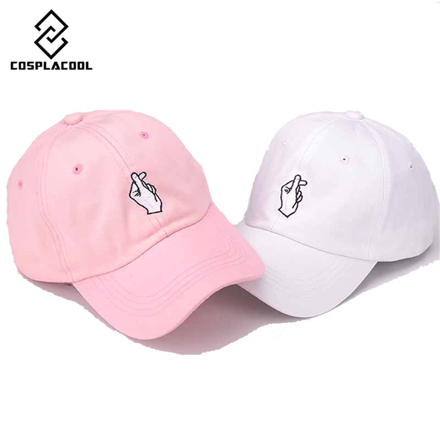 [COSPLACOOL] NEW mens and womens baseball caps finger embroidery LOVE curved hat hip-hop cap<br><br>Aliexpress