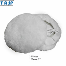 TASP 125mm Wool Polishing Bonnet Buffing Pad 2PC for Car Polisher(China)