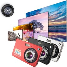 "High Quality! 1280 * 720 HD Mini Digital Camera 18MP 2.7"" TFT 8x Zoom Smile Capture Anti-shake Video Camcorder"